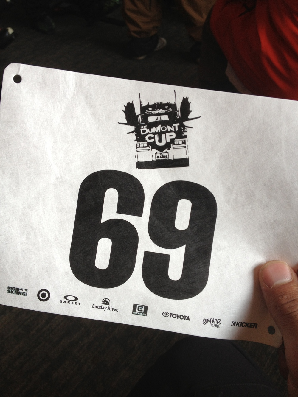 My lucky bib number