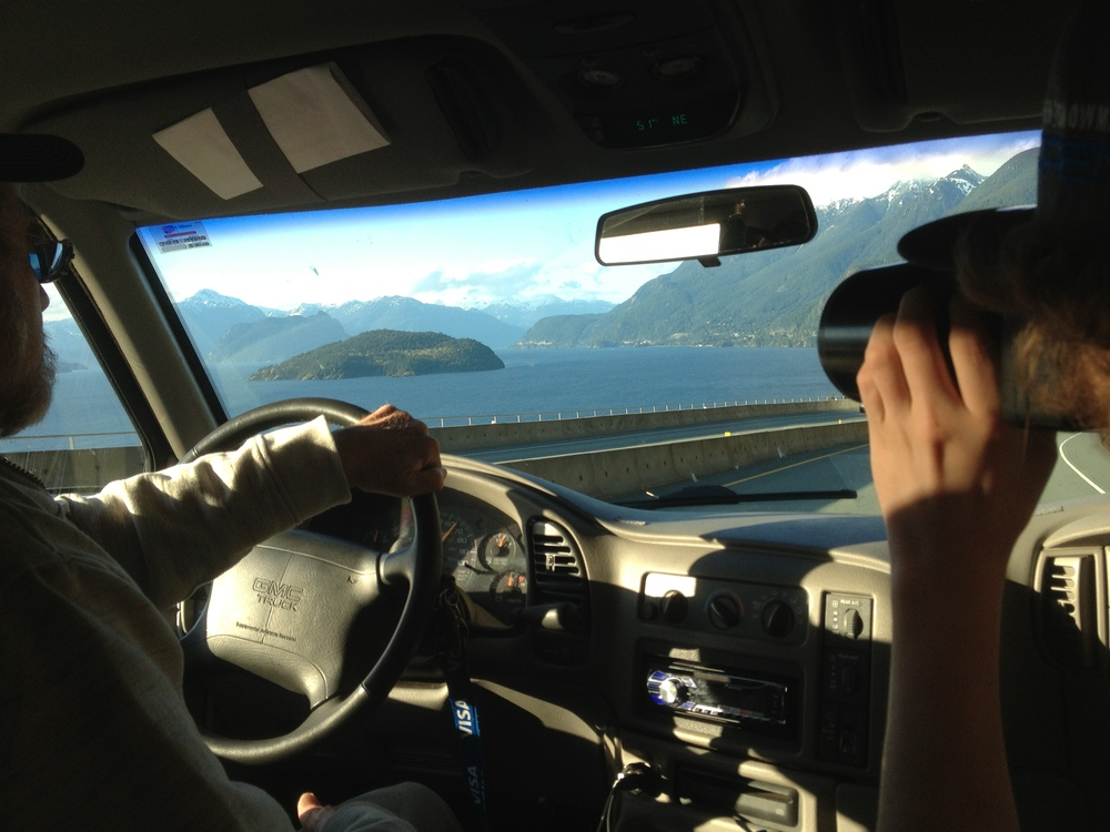 Traveling up the Sea to Sky Highway en route to Whistler