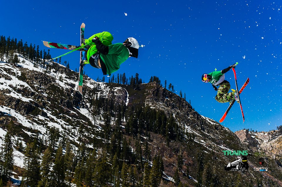 Team Green riders Robby Franco and Nick Goepper just hanging out