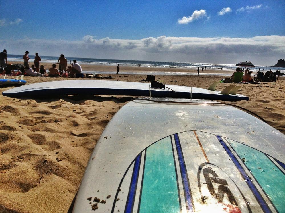 Surfing at Short Sands