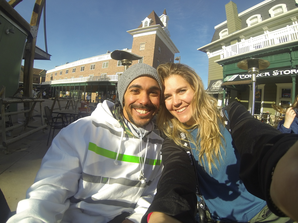 Apres-ski chilling with my awesome friend Dania