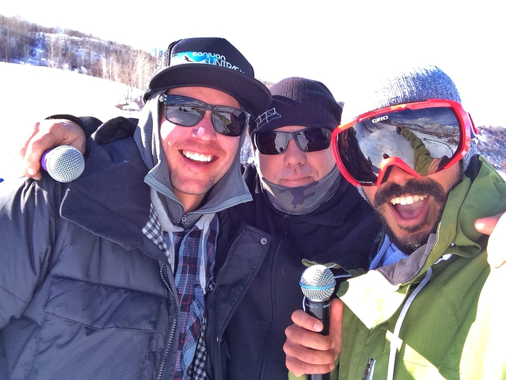 Announcing with DC and Simon during the Big Air event