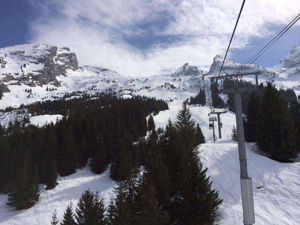 Gondola up to Le Balme