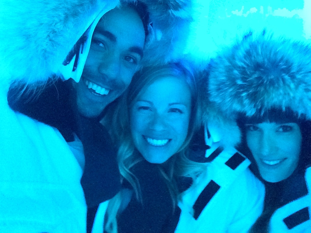 Chilling with Nicole and Angeli in the ice room at the AFP dinner