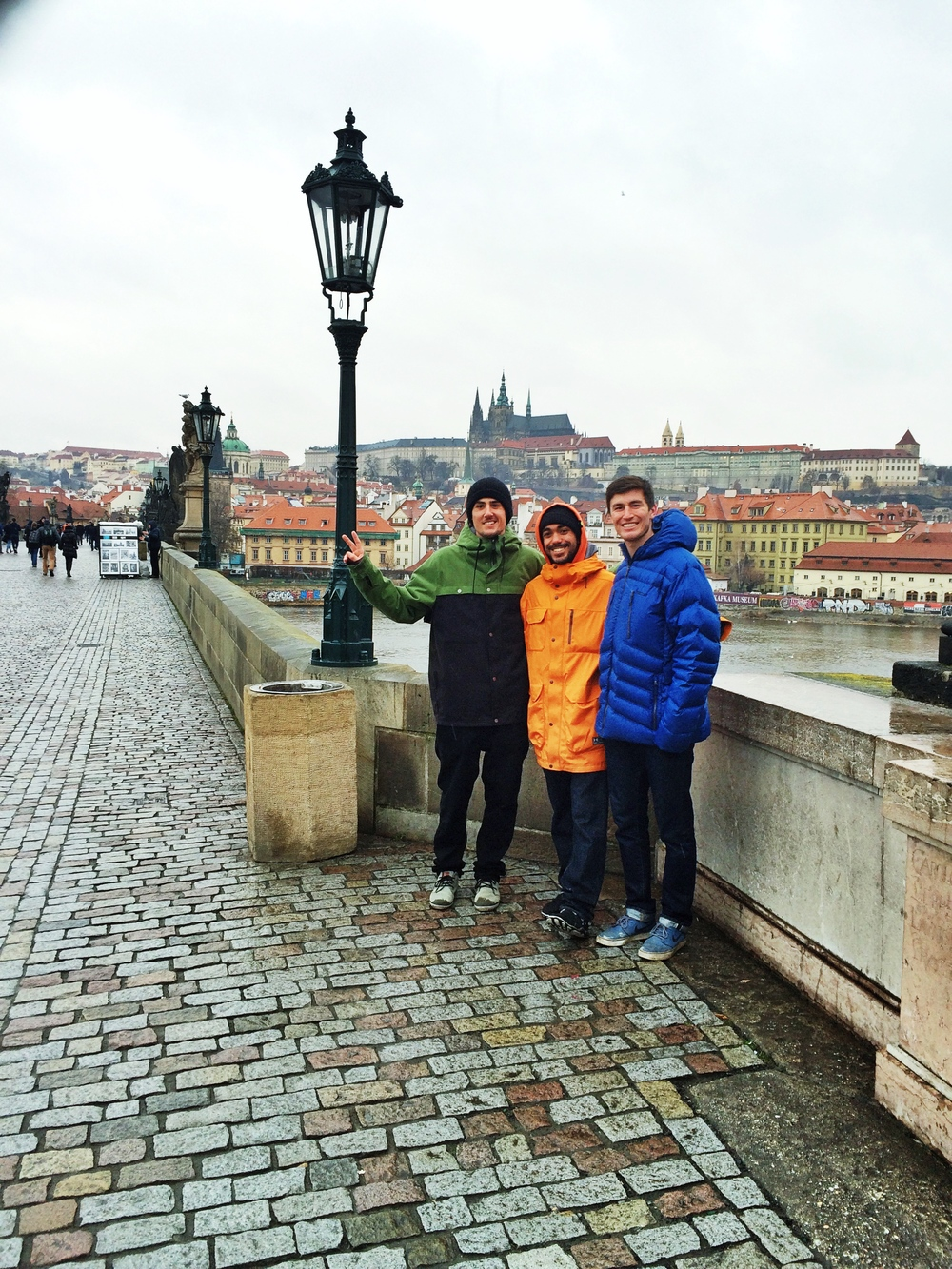 On the Charles Bridge, with the Castle in the background