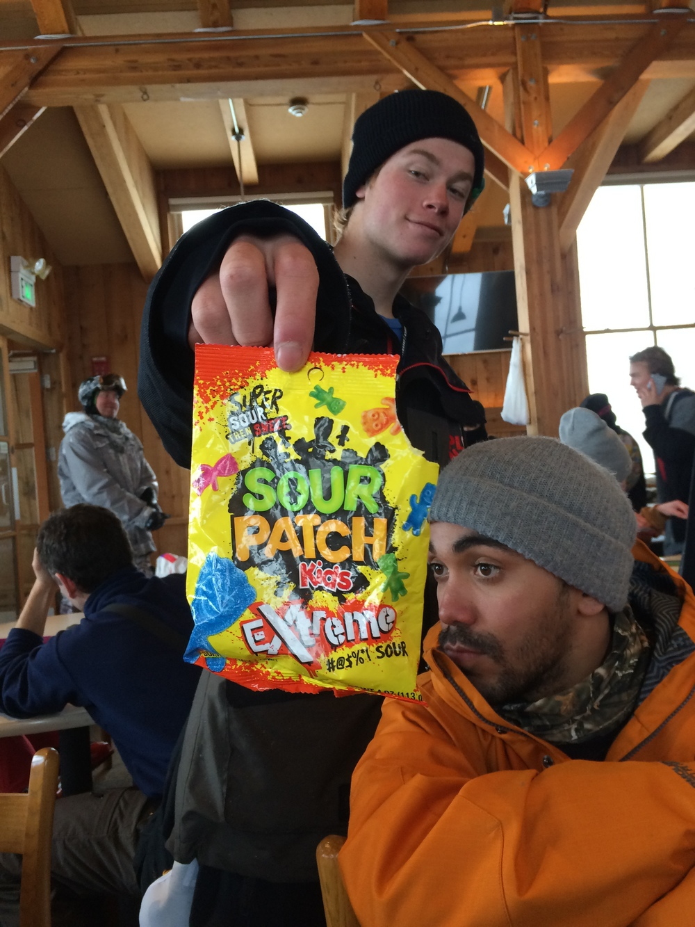 Sour Patch chilling in the Aspen lodge. Photo by: Robby Franco