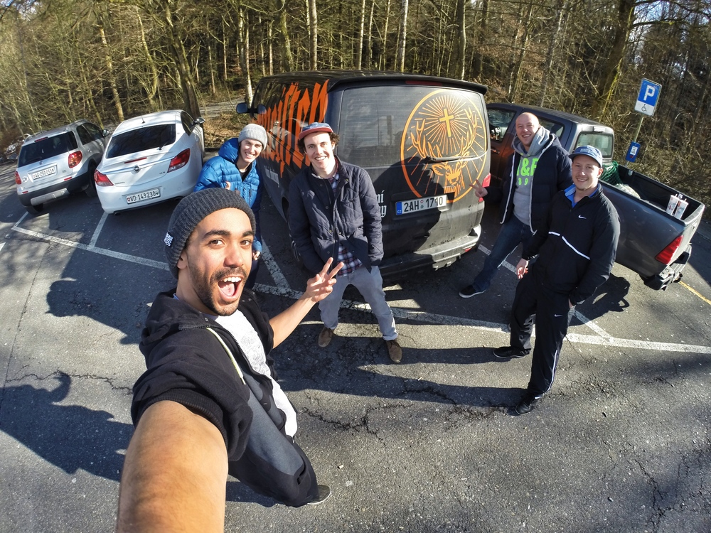 Road trip in the Jagarmeister van!