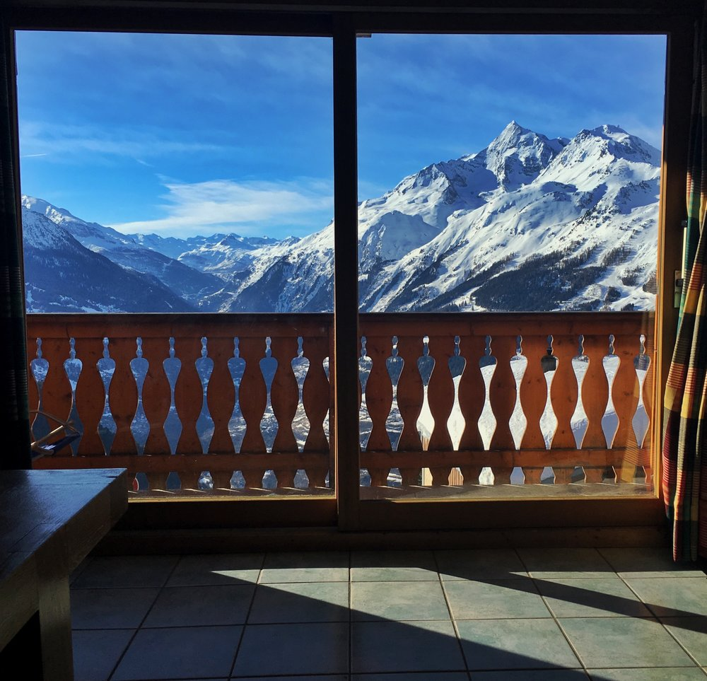 One of the best views I had to wake up to this winter in La Rosiere, France.