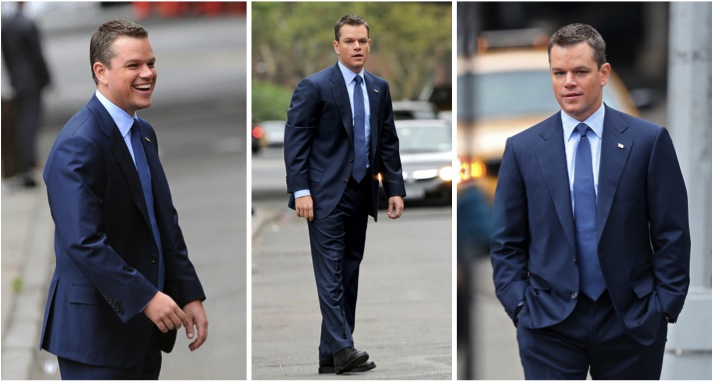 Navy blue suit_Terno Azul Marinho_Matt Damon