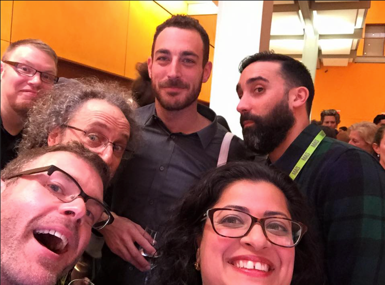 From left to right: Rome (Production Manager), Clyde (Joseph), Justin (Playwright), Dan Stern (Narrator), Malini (Marketing), Matt Pilieci (Paul)   Photo by Malini