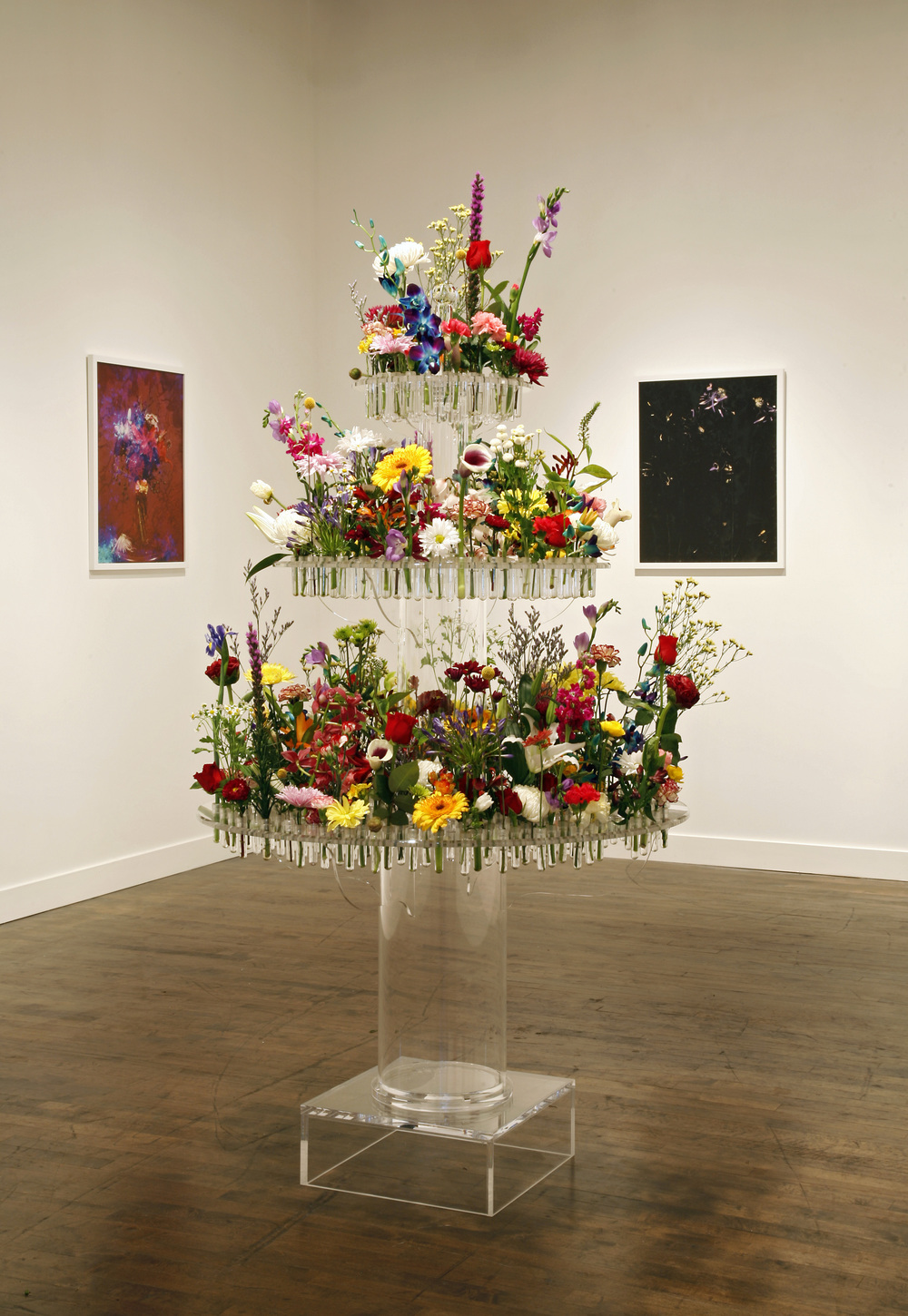 Baudelaires Fountain / Plexiglass, Fresh Flowers / Linda Warren Projects / Chicago (day 1)