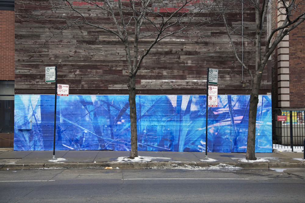 Violet Hour Mural / ink jet, wheatpaste / Winter-Spring 2013 / Chicago
