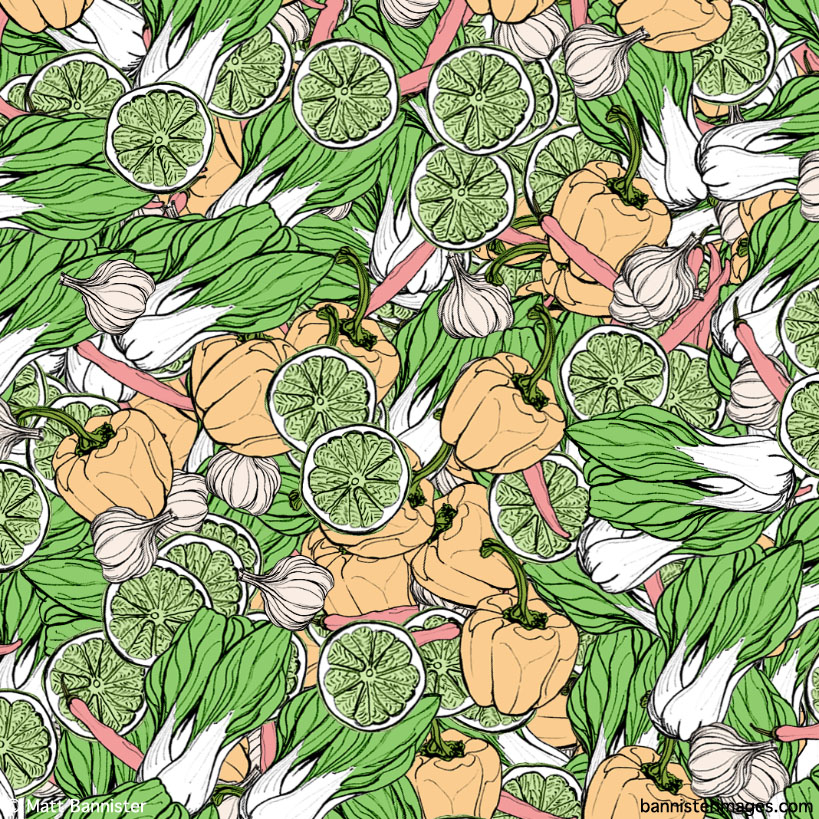 Asian Vegetable Background