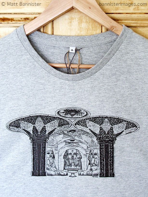 'Subway Sphinxes' adapted for use as a t-shirt design.