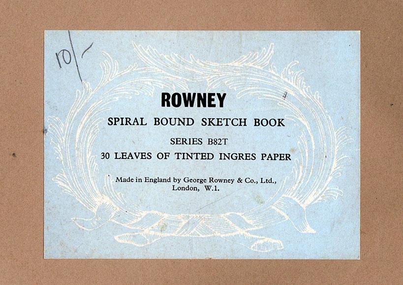 Rowney sketchbook