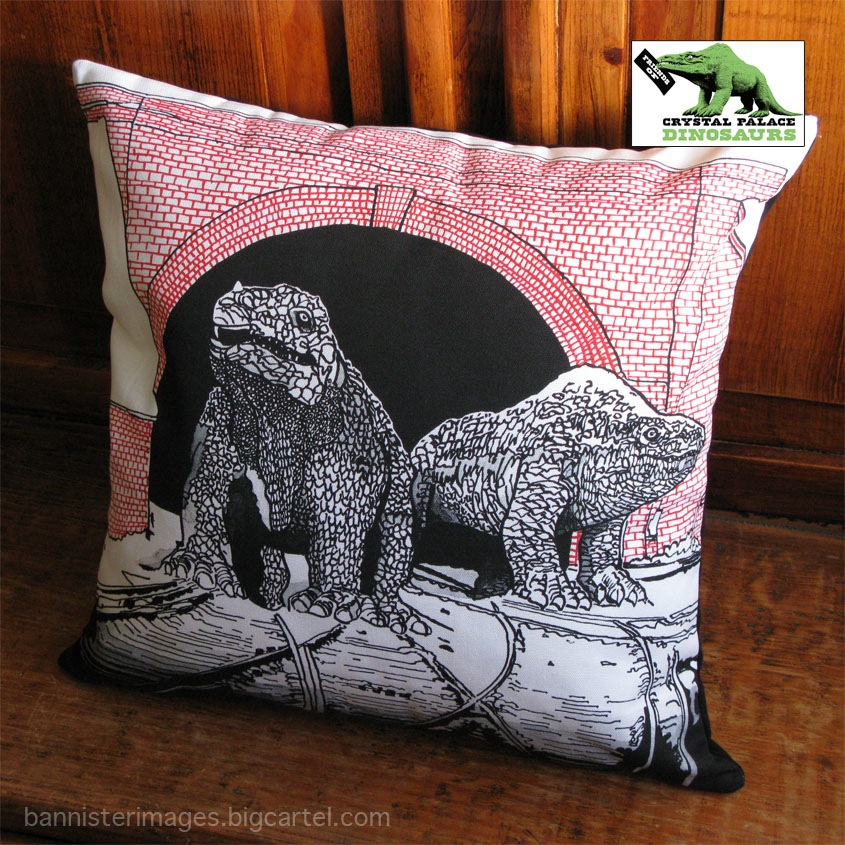 Crystal Palace Monsters dinosaur cushion