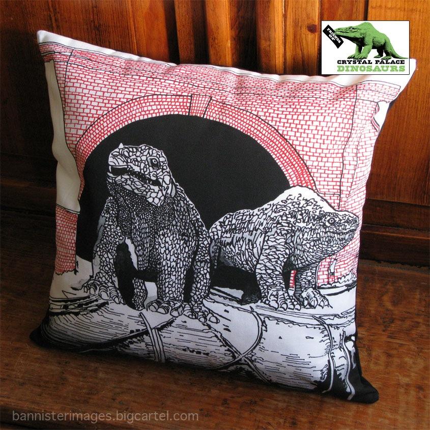 Crystal Palace Monsters dinosaur cushion