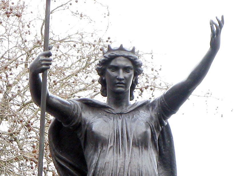 Statue of Queen Boudica, Victoria Embankment.