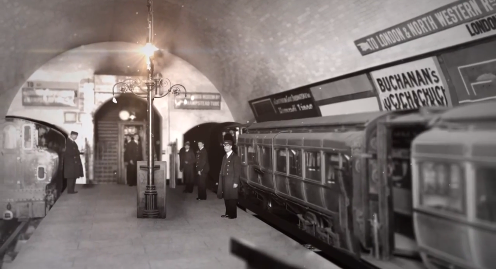 archive image of the London Underground