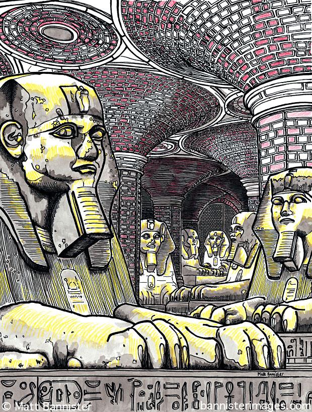 Sphinx statues