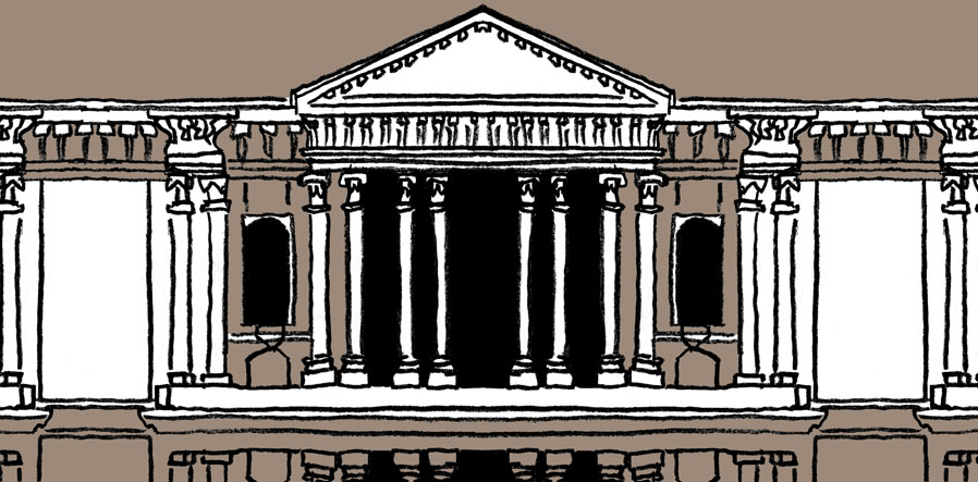 Illustration of part of St. Paul's Cathedral for Sinfinimusic.com's Greatest Classical Period Music category. © Universal Music.