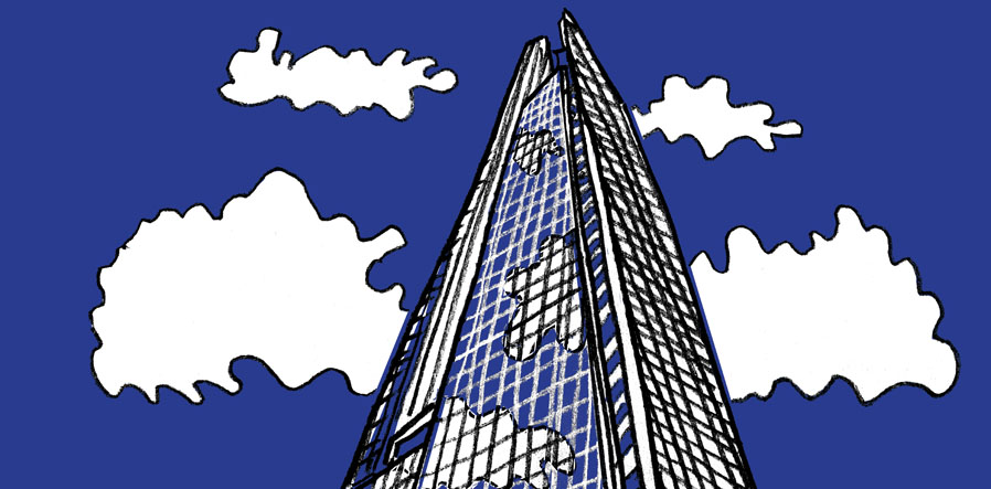 Cartoon illustration of The Shard