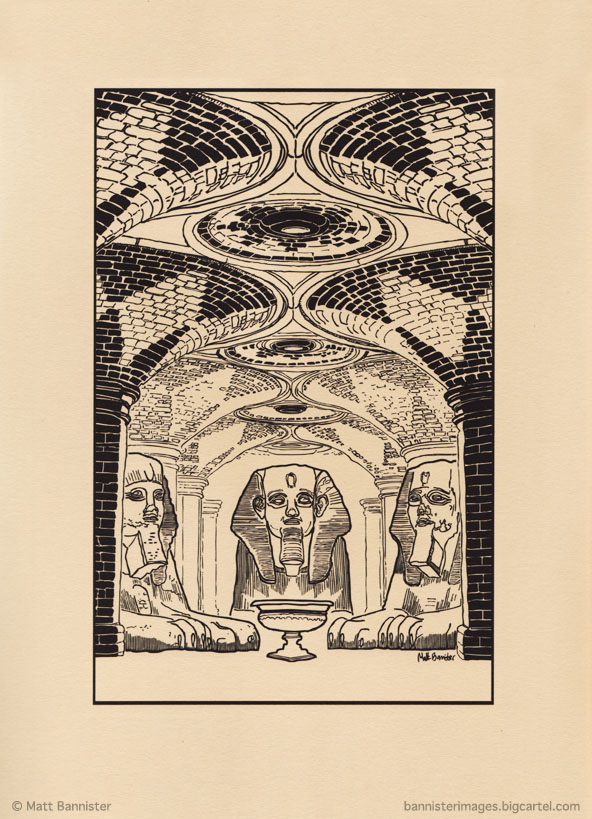 illustration of sphinxes