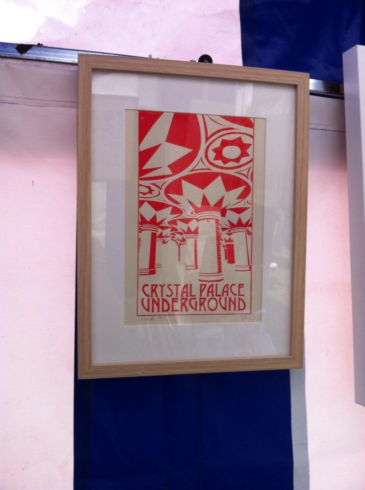 One of Sinead's prints. Photo © Jules Hussey.