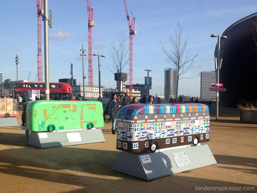 Bus sculptures