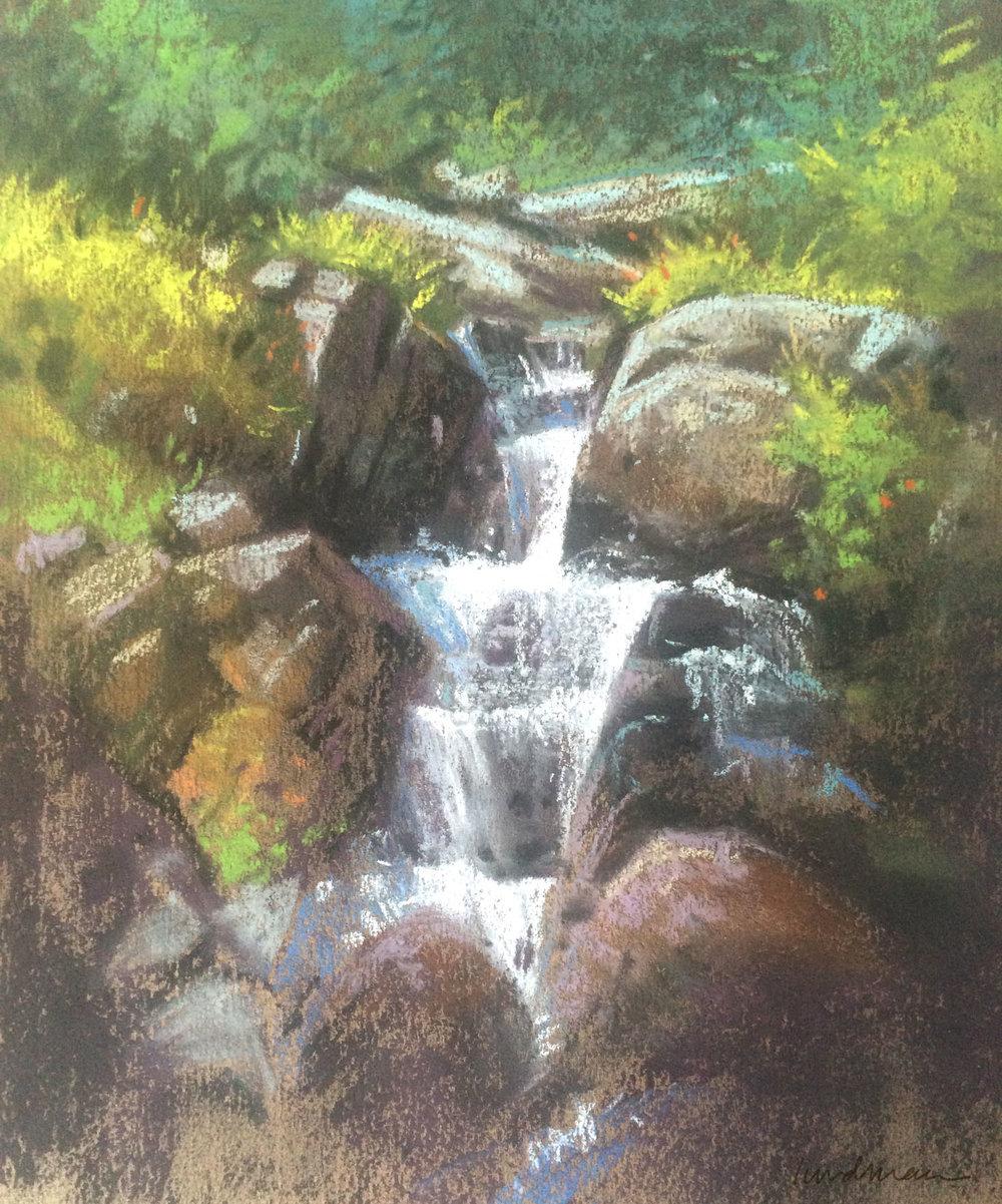 Lundman_WaterfallNearLakeEdizaSierras.jpg
