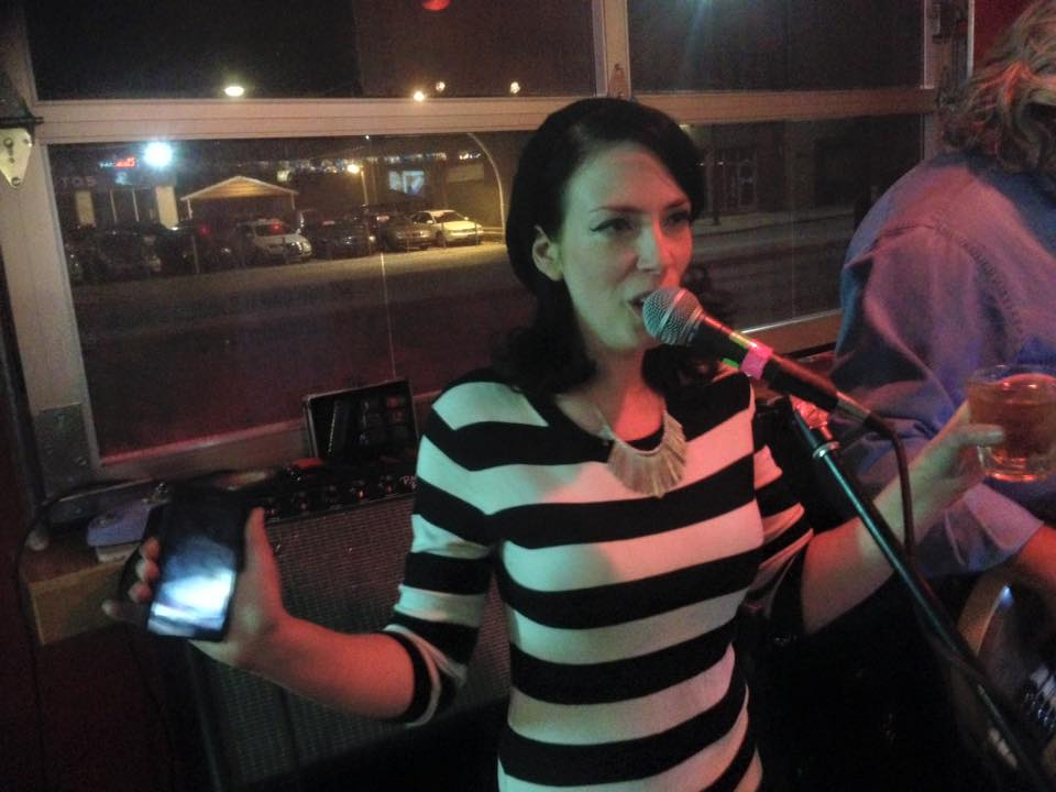 Singing at open mic, Gennaro's Denver
