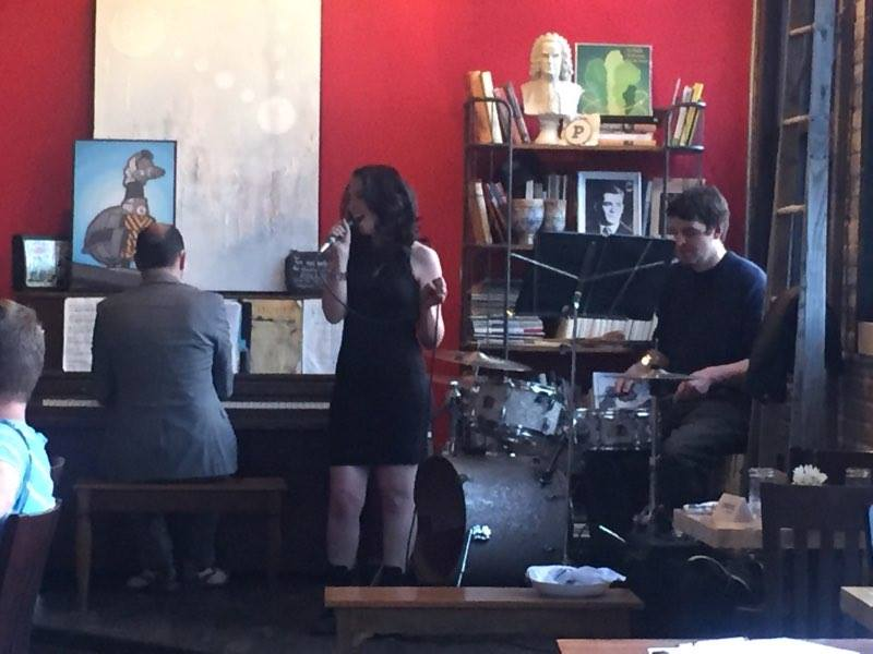 singing with my trio at The Preservery in Denver.