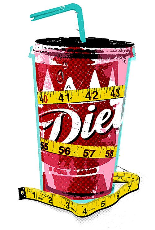 the truth about diet drinks - nice and graphic and simple for the new york times