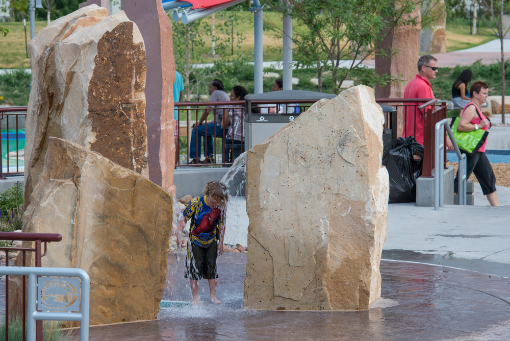 Colorado playground water splash pad