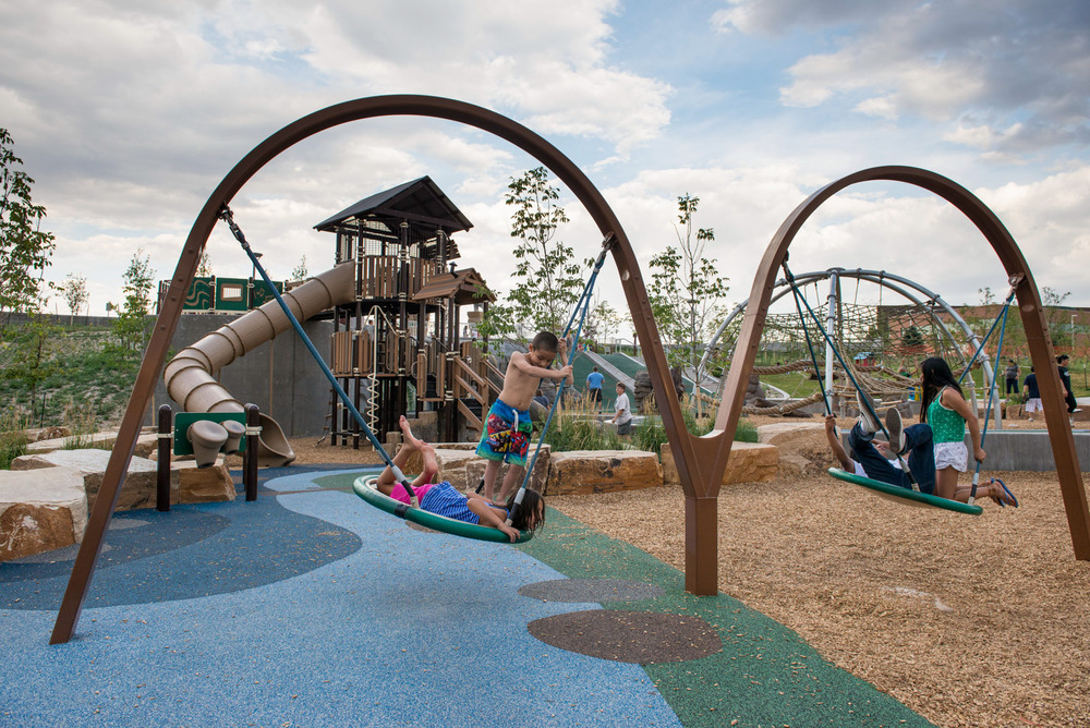 Colorado playground inclusive play swings