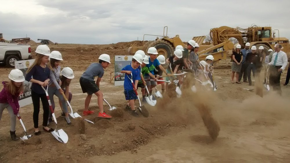 kids breaking ground