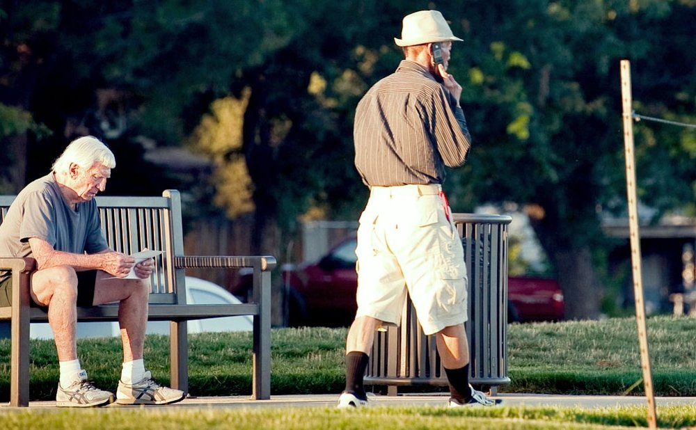 Walking access brings communities outside, such as in  Utah Park  in Aurora, Colorado,