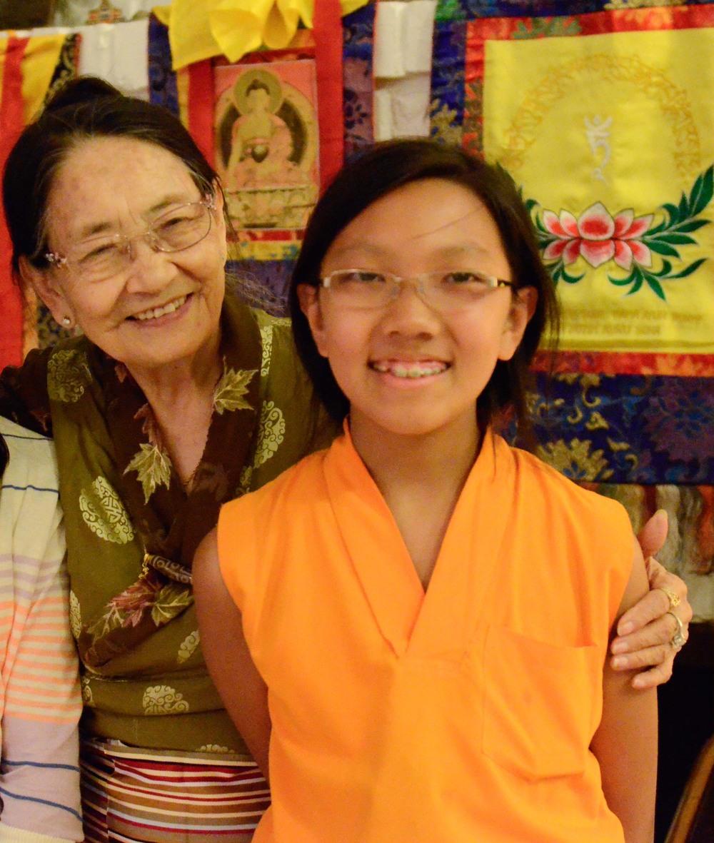 Dagmola Sakya and her grandson, Asanga Rinpoche