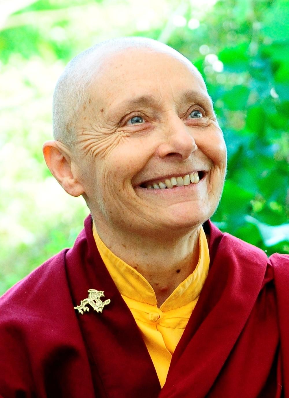 Jetsunma Tenzin Palmo on a teaching tour in Europe