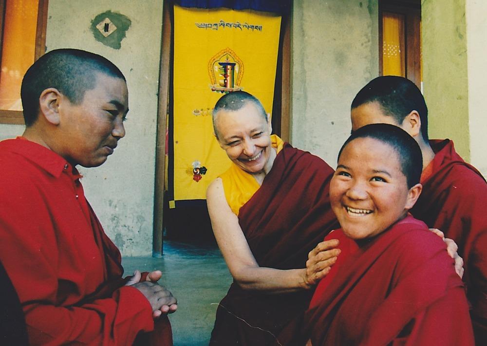 Jetsunma and her nuns at Dongyu Gatsal Ling nunnery