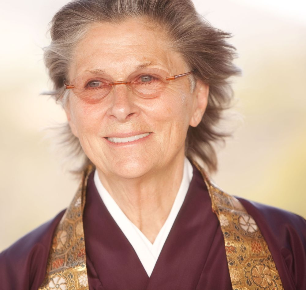 Roshi Joan Halifax at a wedding ceremony