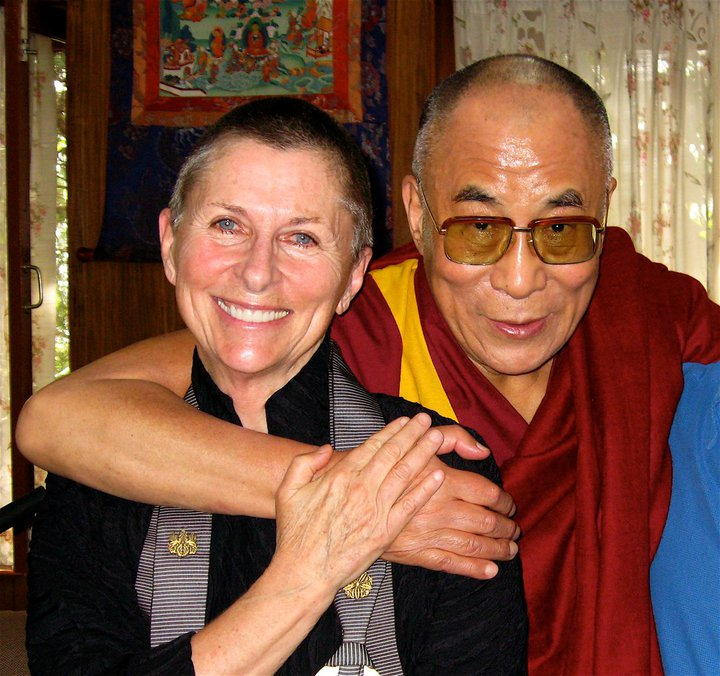 His Holiness the Dalai Lama with Roshi Joan Halifax