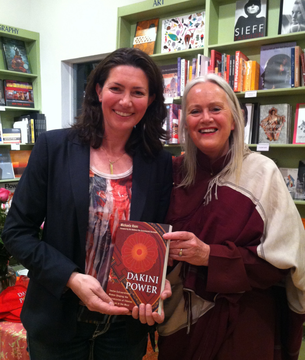 Lama Tsultrim Allione and author Michaela Haas