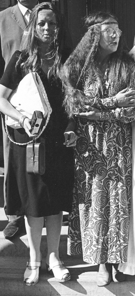 With her sister Jan, 1971, California