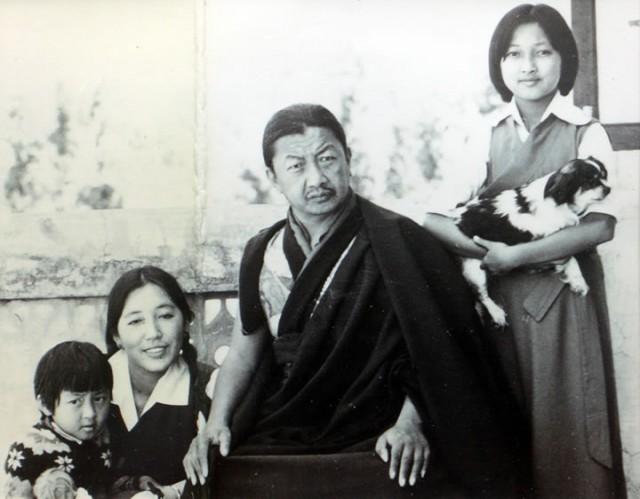 Mindrolling Trichen Rinpoche, Sangyum Kusho, Khandro Rinpoche, and Dechen Paldron in India