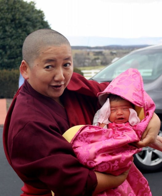 Khandro Rinpoche with her niece, 2013