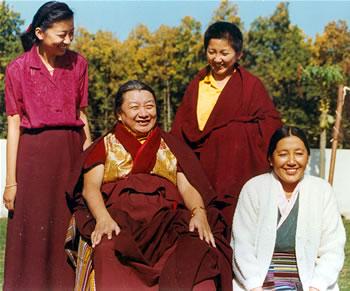 Mindrolling Trichen with Sangyum Kusho, Khandro Rinpoche, and Jetsun Dechen Paldron