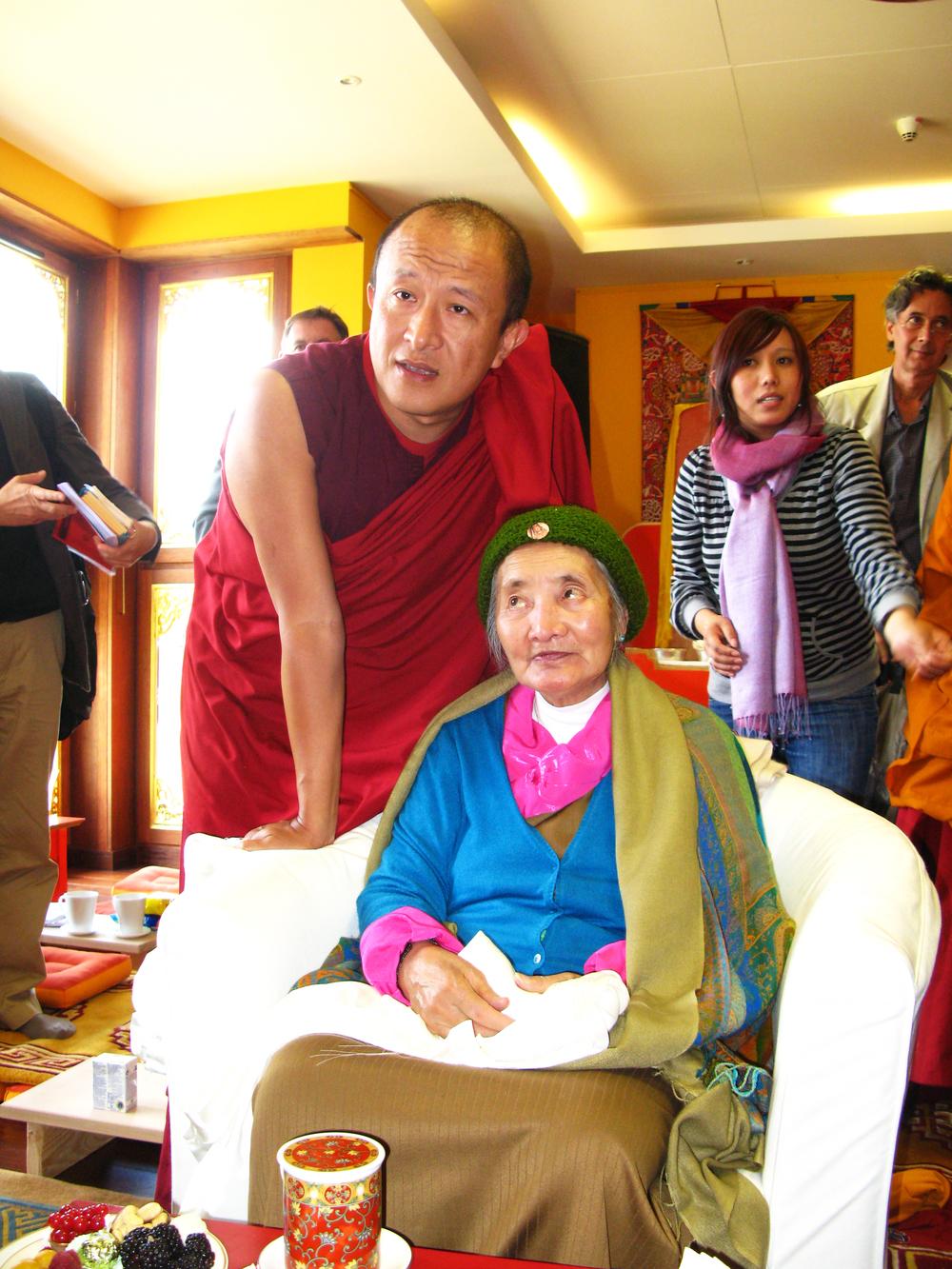 Khandro-la with Dzongsar Khyentse Rinpoche