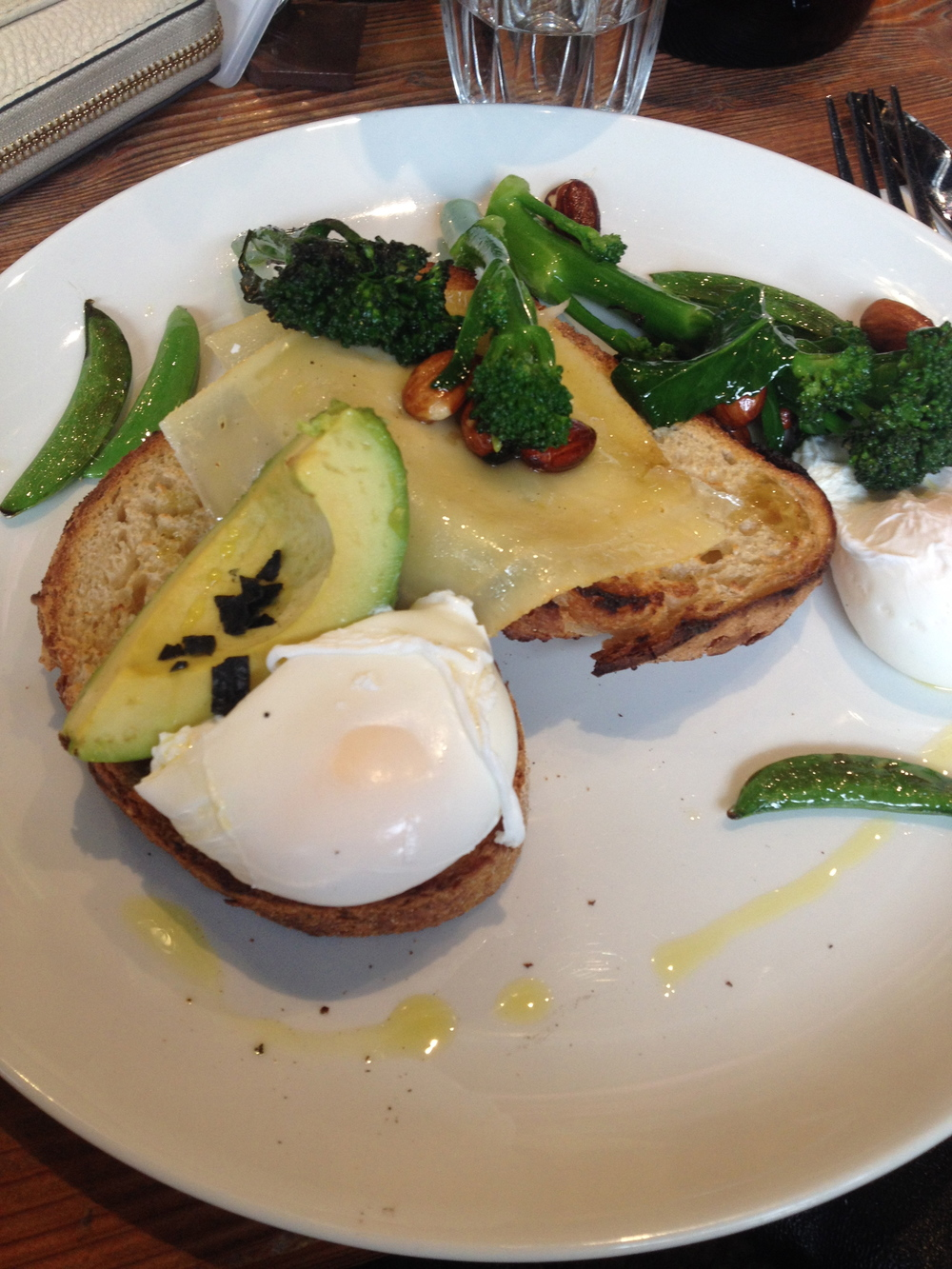 Greens and eggs on sourdough!