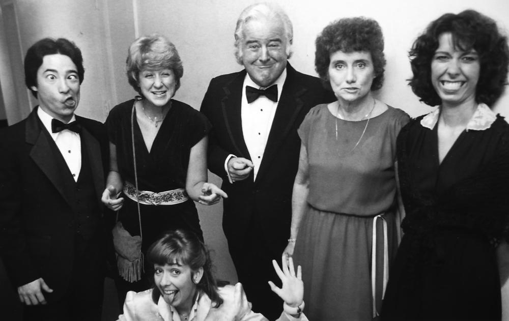 Dress Up Night. l to r: myself, Sue Tweedt, John Whelan, Joan Whelan, Debbie Scutari, Doreen Davis (below)....Black Tie affair, Overseas Press Club.